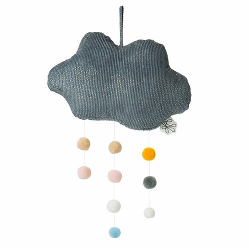 Sparkly Grey Cloud with Pom Pom Detail