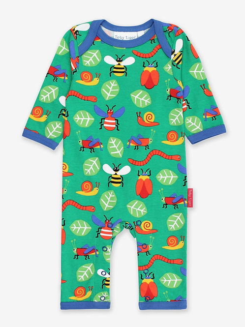 Organic Bug Print Sleepsuits