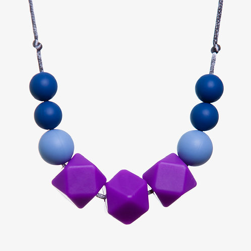 Gwyneth Teething Necklace - Purple & Blue