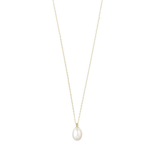 Eila Pearl Drop Silver-Plated Necklace