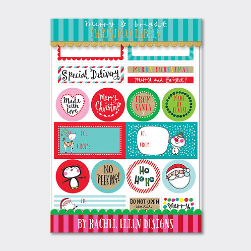 Christmas Labels - Merry & Bright