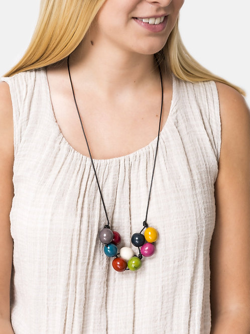 Bolota Adjustable Necklace - Multi-Coloured