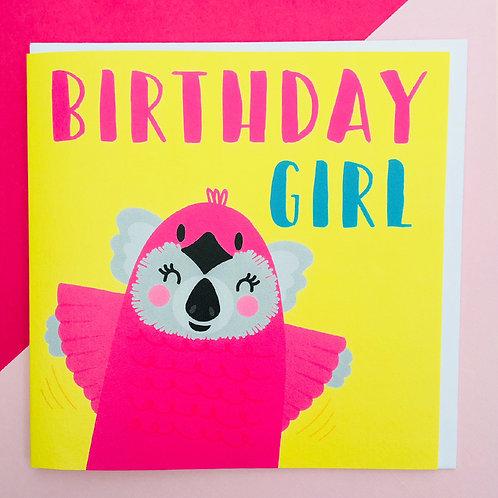 Koala Bird Birthday Girl