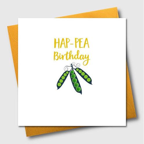 Hap-pea Birthday Card