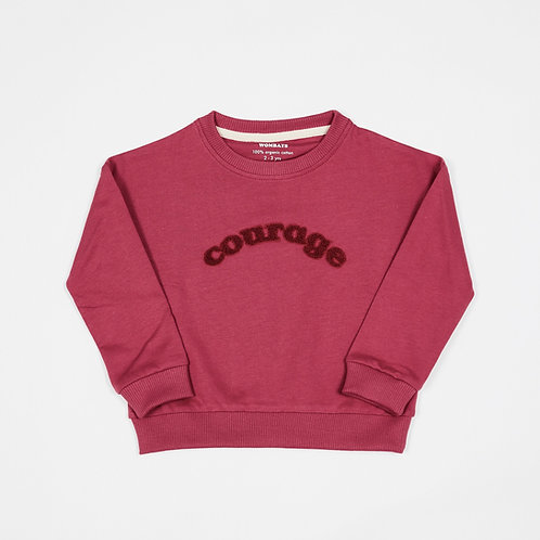 Soft Red 'Courage' Sweatshirt