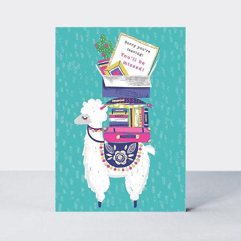 Sorry You're Leaving Llama Card