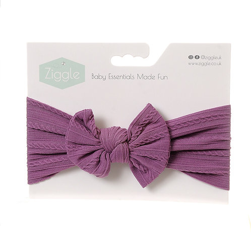 Lilac Top Bow Turban Headband