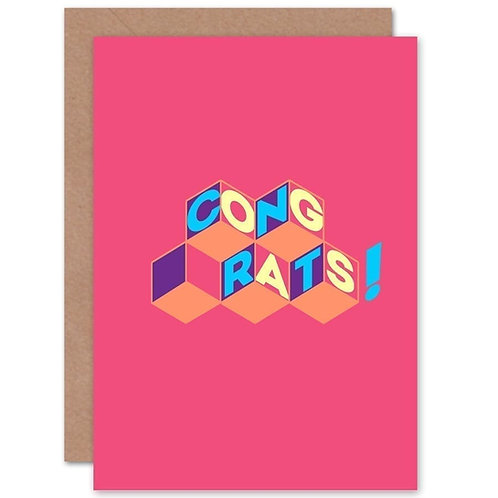 Congrats Card - Pink