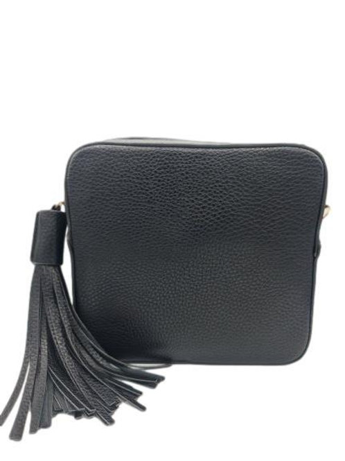 Box Bag with Tassel - Black