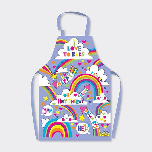 I Love To Bake Children's Rainbow Apron