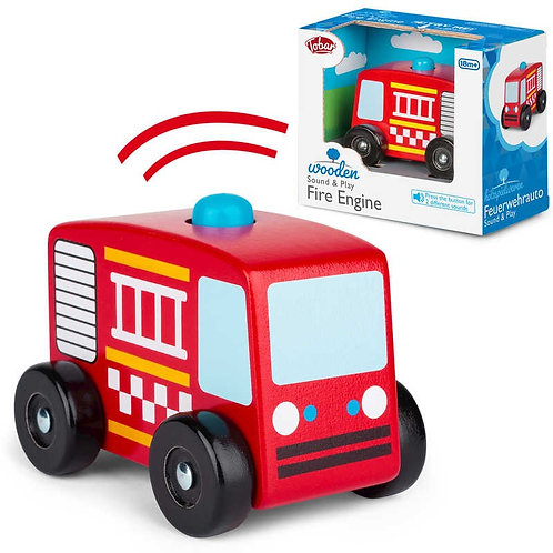 Wooden Sound and Play Fire Engine