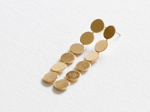 Junia Circle Dangle Earrings - Gold