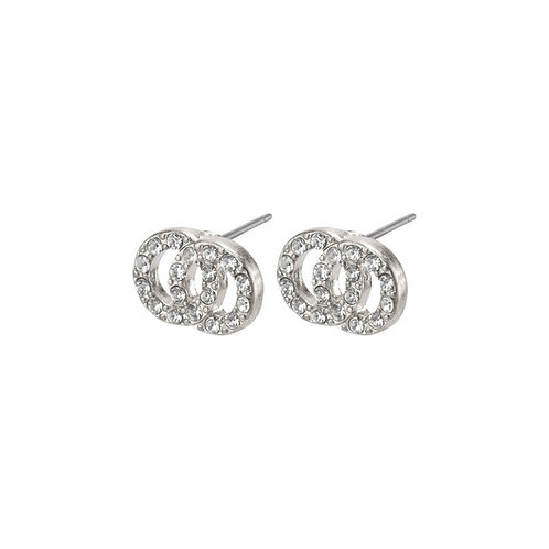 Victoria Crystal Silver-Plated Earrings