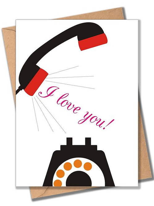 'I Love You' Phonecall Card