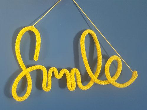 'Smile' Crochet Wire Sign