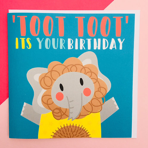 'TOOT TOOT' Birthday Card