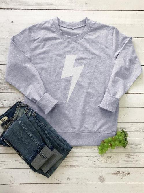 Lightning Bolt Sweatshirt - Grey
