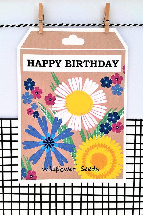Wildflower Seeds Birthday Card