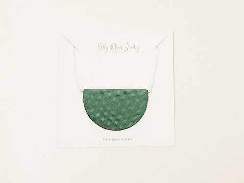 Silky Moons Half Moon Necklace - Green