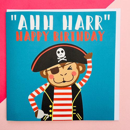 """""""AHH HARR"""" Birthday Card"""