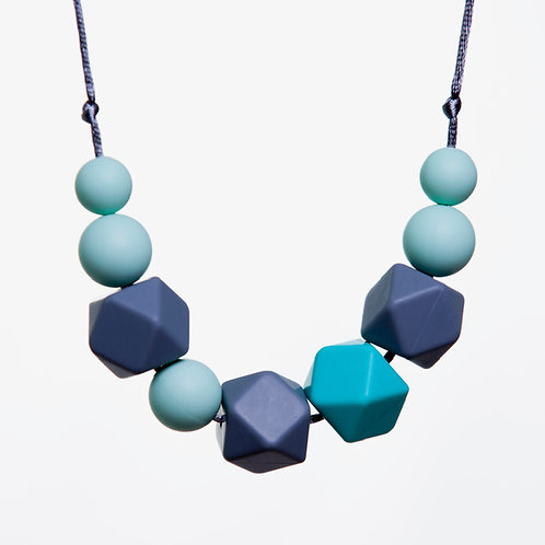 Lucy Teething Necklace - Grey & Mint