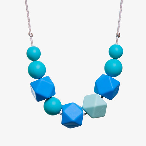 Lucy Teething Necklace - Blue & Mint