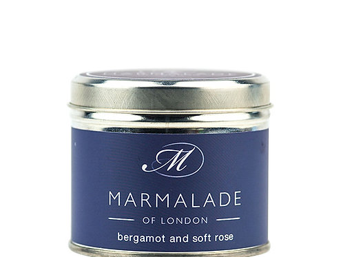 Bergamot and Soft Rose Tin Candle - Medium