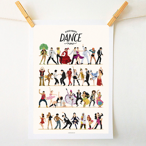 'Everybody Dance Now' Print - A4 Unframed.
