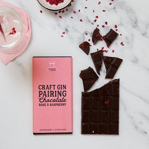 Craft Gin Pairing Chocolate - Rose & Raspberry