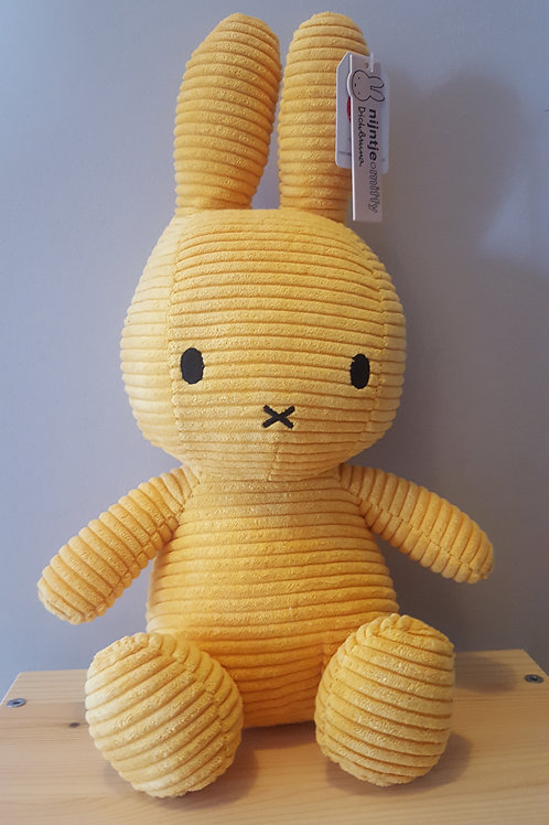 Miffy Corduroy Yellow Large - 33 cms