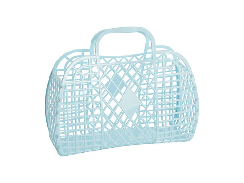Retro Basket - Large Blue