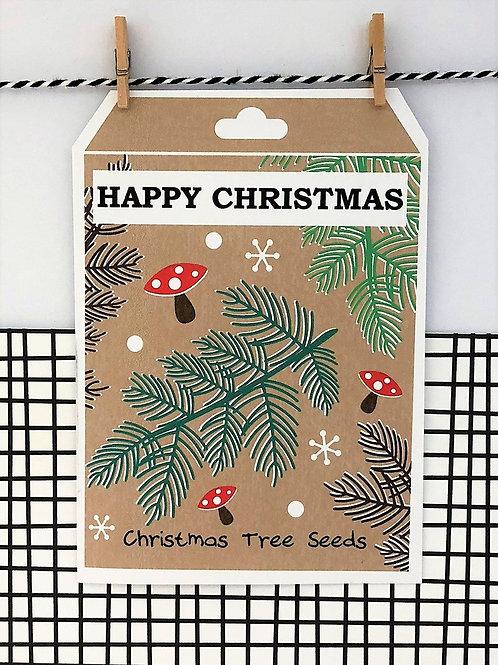 Tree Seed Happy Christmas Card