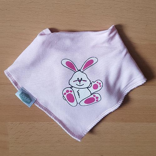 Easter Bunny Dribble Bib - Pink