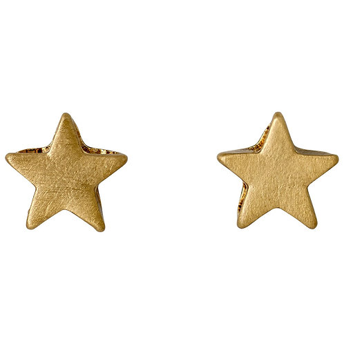Ava Star Gold-Plated Studs - Small
