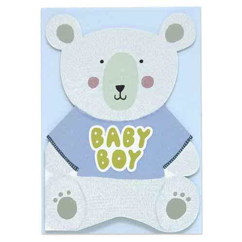 Baby Boy Bear Card