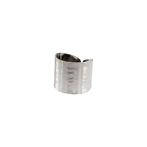 Abbie Silver-Plated Hammered Ring