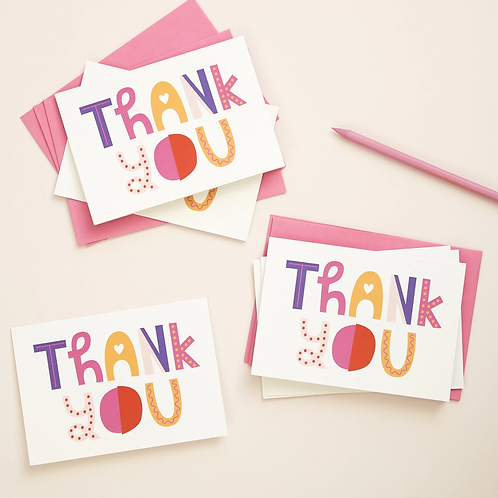 Thank You Cards - Pk of 6