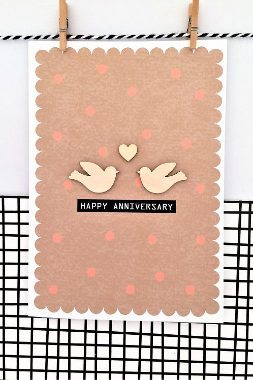 Anniversary Birds Card
