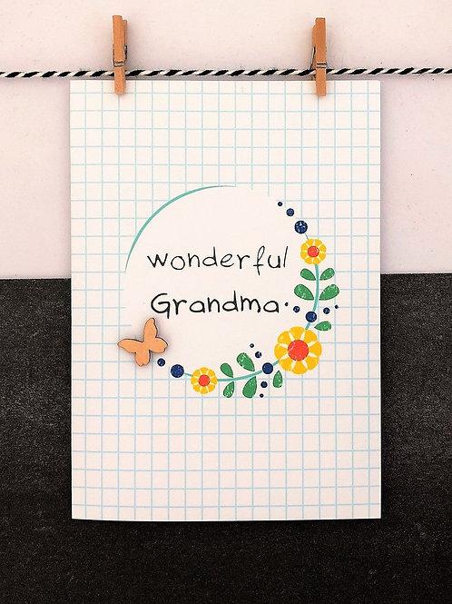 Wonderful Grandma Card