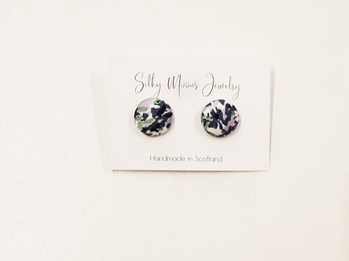 Silky Moons Small Stud Earrings