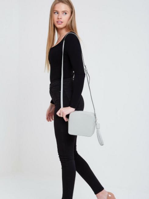 Box Bag with Tassel - Pale Grey