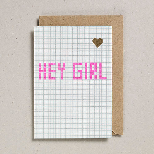 Hey Girl Valentine's Card