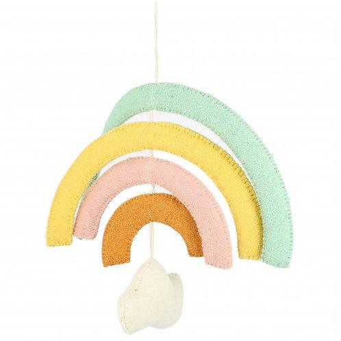 Natural Pastel Rainbow Mobile