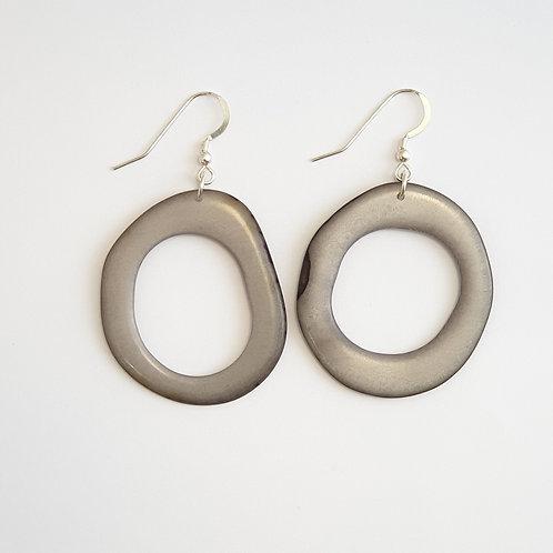 Loop Earrings - Grey