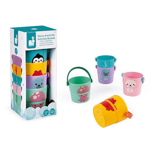 5 Bathtime Activities Buckets