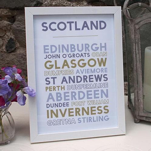 A4 Scotland Print