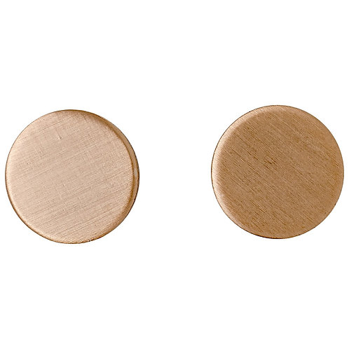 Wynonna Rose Gold-Plated Solid Circle Earrings