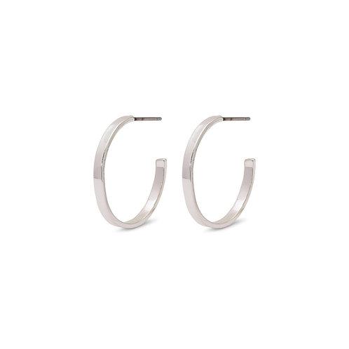Bella Silver-Plated Hoop Earrings