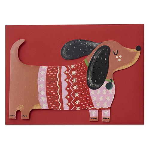 Dachshund in Christmas Jumper Card