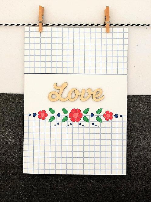 Wooden Love Card